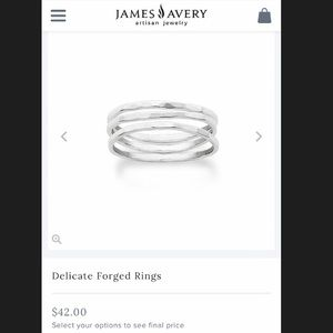 Silver stackable James Avery rings